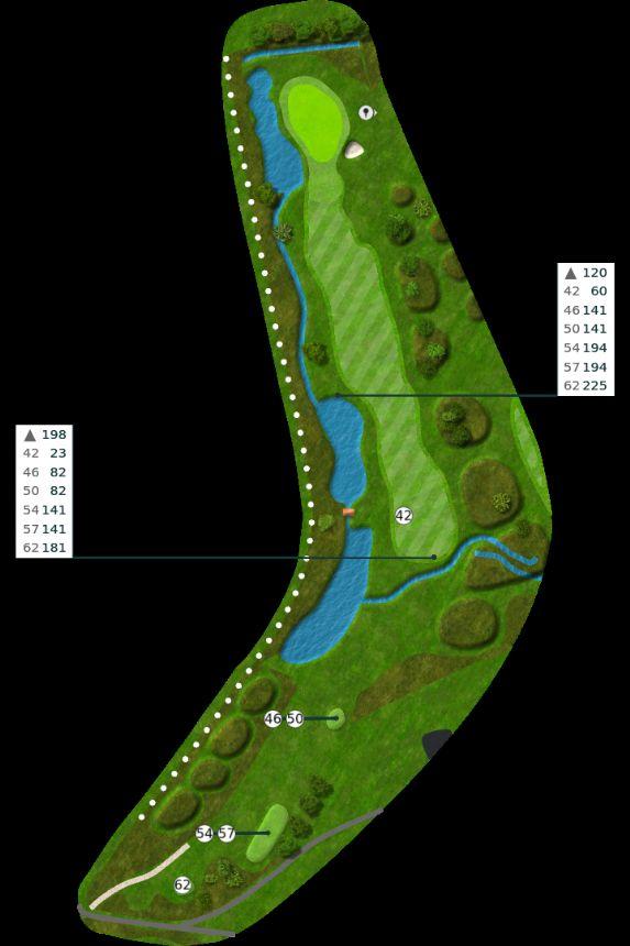 Nøtterøy Golf Illustrasjon bane 11