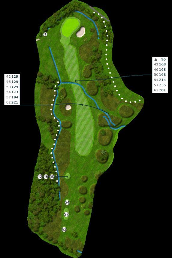 Nøtterøy Golf Illustrasjon bane 12
