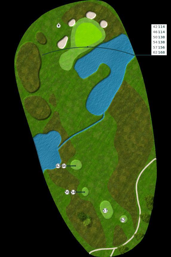 Nøtterøy Golf Illustrasjon bane 13