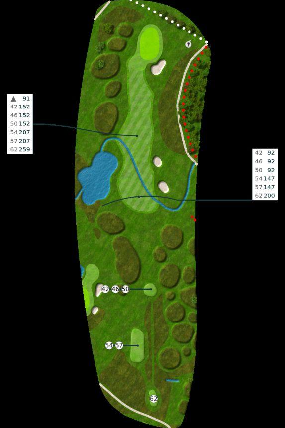 Nøtterøy Golf Illustrasjon bane 14