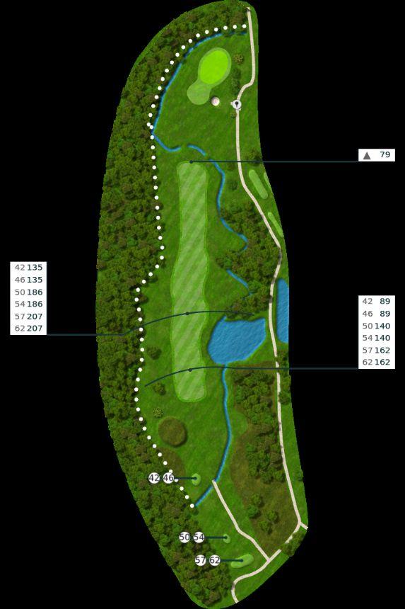 Nøtterøy Golf Illustrasjon bane 15