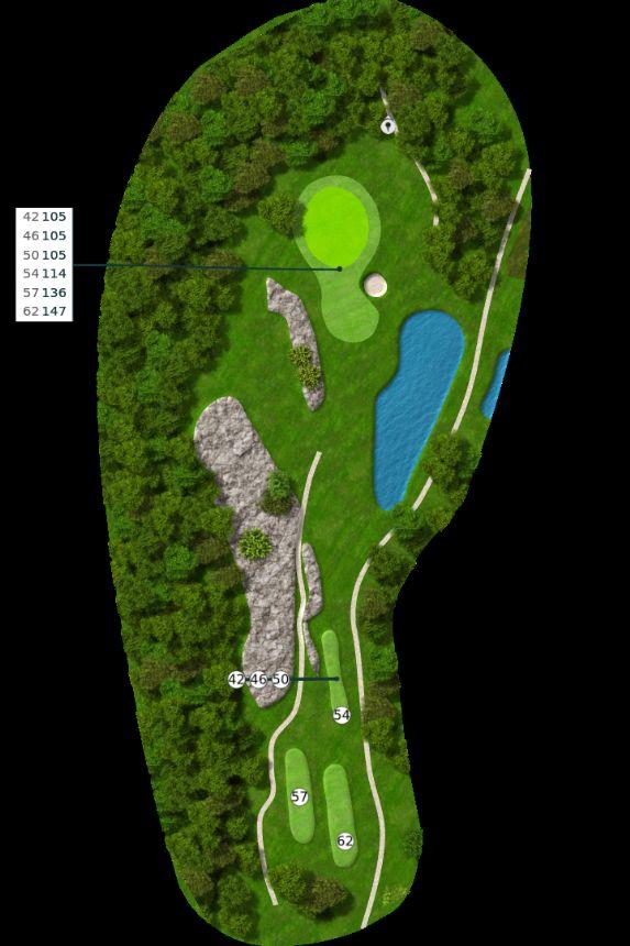 Nøtterøy Golf Illustrasjon bane 16
