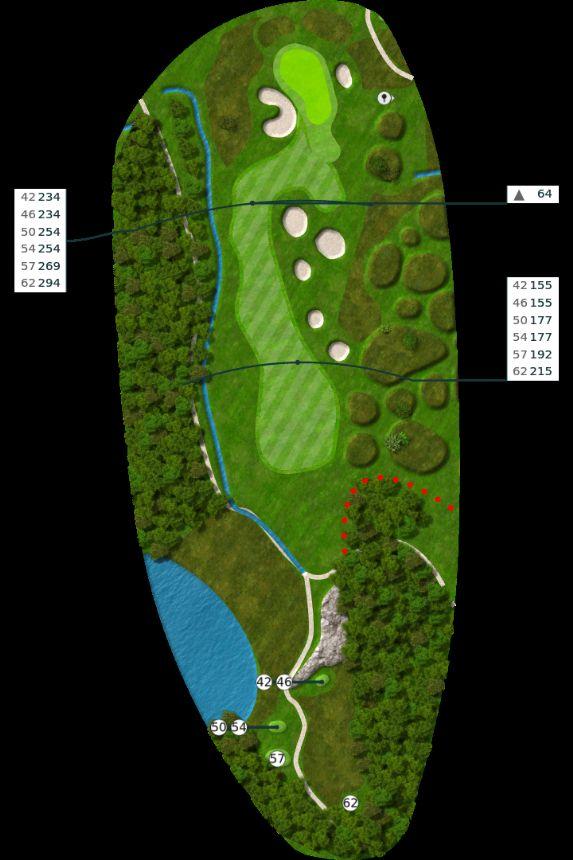 Nøtterøy Golf Illustrasjon bane 17