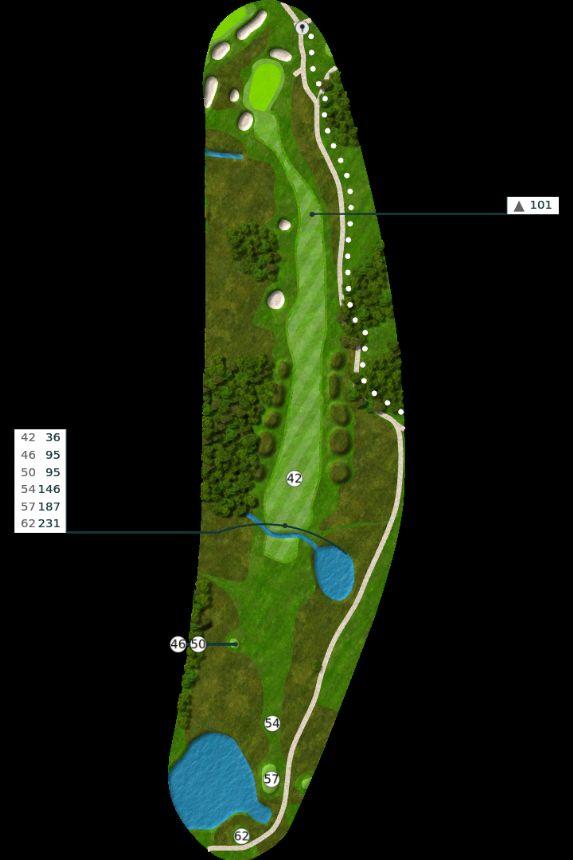 Nøtterøy Golf Illustrasjon bane 18