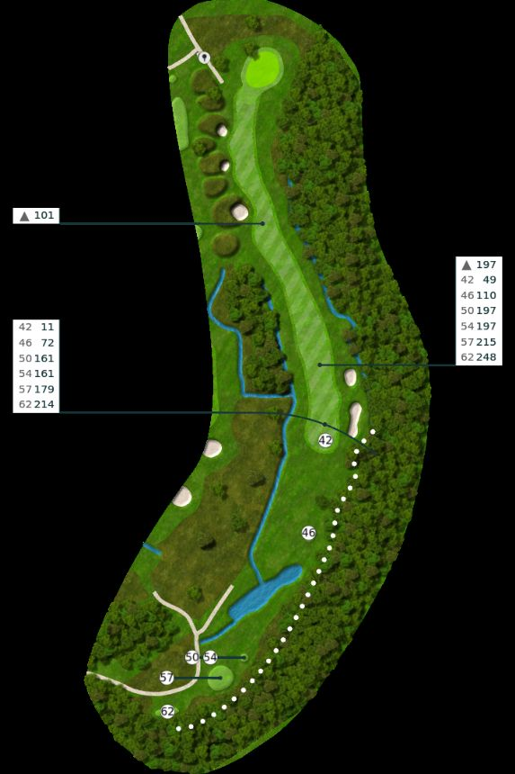 Nøtterøy Golf Illustrasjon bane 2