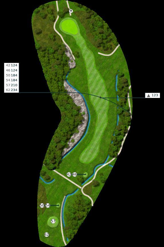 Nøtterøy Golf Illustrasjon bane 3