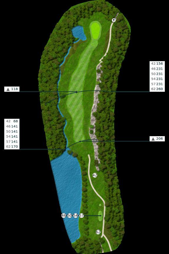Nøtterøy Golf Illustrasjon bane 4