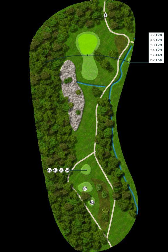 Nøtterøy Golf Illustrasjon bane 6