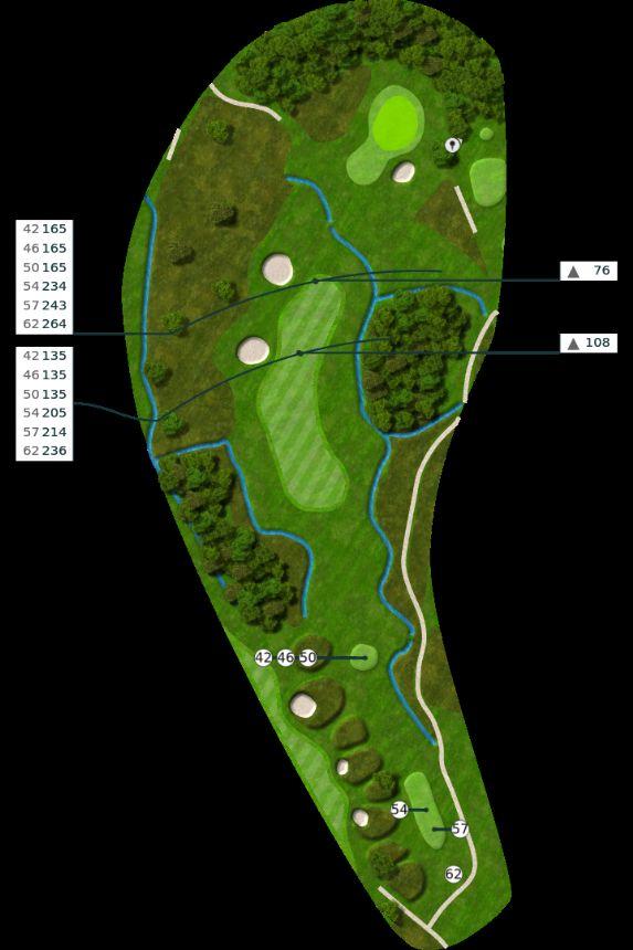 Nøtterøy Golf Illustrasjon bane 7