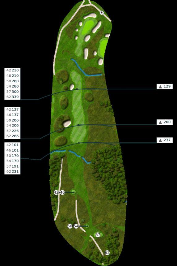 Nøtterøy Golf Illustrasjon bane 9